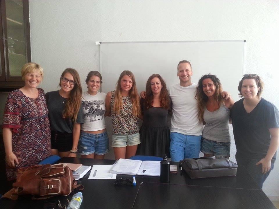 Schüler eines Intensivkurses in Malaga