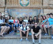 Viste des monuments de Malaga avec les professeurs