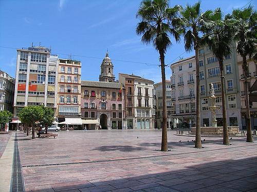 Visiting Malaga - Plaza de la Constitución - study Spanish at Academia CILE