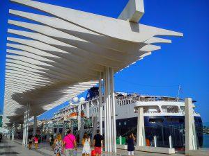 Paseo del muello - Hafen von Malaga - Spanischkurse bei CILE in Malaga