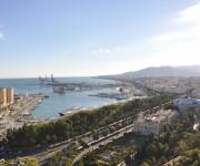 панорама города Малаги Испания