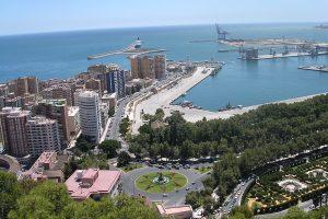 Вид сверху – панорама Малаги – Academia CILE – курсы испанского языка