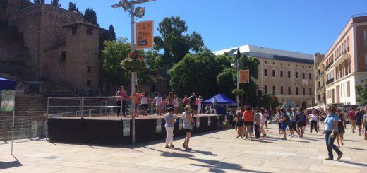 Zumba vor Teatro Romano - Spanischkurse in Malaga