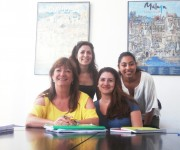 Estudiantes en nuestra Escuela de Español en España, Málaga.