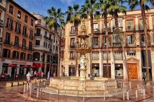 Visiting Malaga – Plaza de la Constitución – study Spanish at Academia CILE