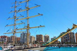 Am Hafen von Malaga – Spanischkurse in Spanien